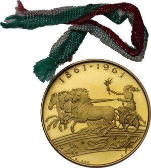 reverse: Medaglia 1961 per il centenario dell unità d Italia