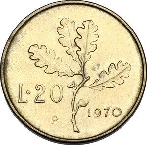 reverse: 20 lire 1970 segno di zecca P