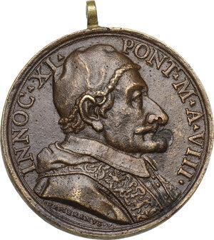 obverse: Innocenzo XI (1676-1689), Benedetto Odescalchi. Medaglia A. VIII, per l Alleanza contro i Turchi