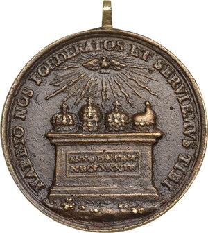 reverse: Innocenzo XI (1676-1689), Benedetto Odescalchi. Medaglia A. VIII, per l Alleanza contro i Turchi
