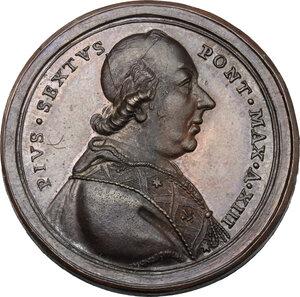 obverse: Pio VI (1775-1799), Giovanni Angelo Braschi. Medaglia A. XIII per la lavanda del Giovedì Santo
