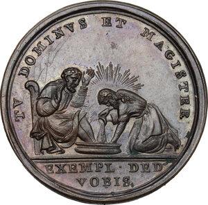 reverse: Pio VI (1775-1799), Giovanni Angelo Braschi. Medaglia A. XIII per la lavanda del Giovedì Santo