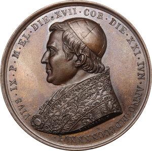 obverse: Pio IX (1846-1878), Giovanni Mastai Ferretti. Medaglia annuale, A. I