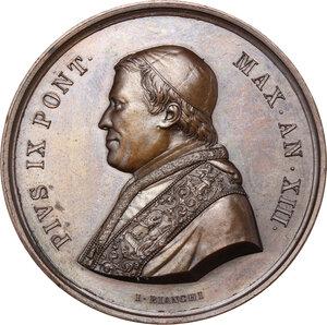 obverse: Pio IX (1846-1878), Giovanni Mastai Ferretti. Medaglia annuale, A. XIII