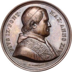 obverse: Pio IX (1846-1878), Giovanni Mastai Ferretti. Medaglia annuale, A. XIV