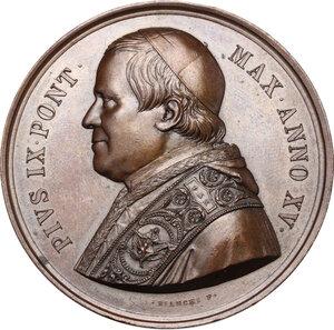 obverse: Pio IX (1846-1878), Giovanni Mastai Ferretti. Medaglia annuale, A. XV