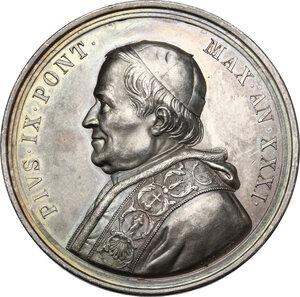 obverse: Pio IX (1846-1878), Giovanni Mastai Ferretti. Medaglia annuale, A. XXXI