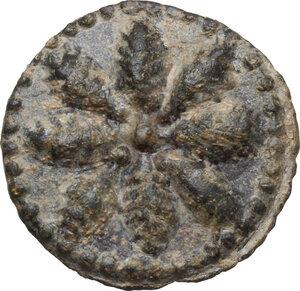 obverse: Tessera plumbea medievale, Italia Meridionale