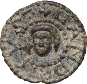 reverse: Tessera plumbea medievale, Italia Meridionale