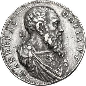 reverse: Andrea Doria (1466-1550), Ammiraglio. Medaglia 1541