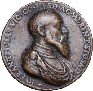 obverse: Gianfrancesco Trivulzio (1504-1573), marchese di Vigevano e conte di Mesocco.Medaglia (1548)