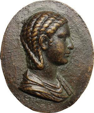 obverse: Iulia Paula, prima moglie di Elagabalo (218-222) (?). Placchetta unifacie, XVIII-XIX sec