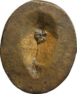 reverse: Iulia Paula, prima moglie di Elagabalo (218-222) (?). Placchetta unifacie, XVIII-XIX sec