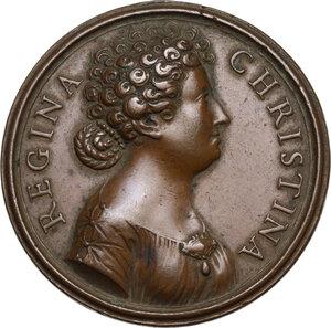 obverse: Cristina di Svezia (1632-1654). Medaglia