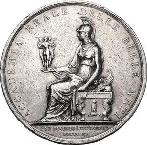obverse: Regia Accademia di Belle Arti . Medaglia 1803