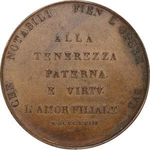 reverse: Giovanni Fabbroni (1752-1822), naturalista.Medaglia 1823