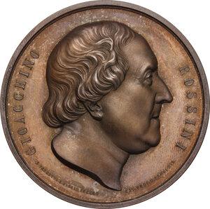 obverse: Gioacchino Rossini (1792-1868). Medaglia 1823