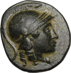 obverse: Syria, Seleucid Kings. Seleukos II (246-225 BC).AE 18mm. Sardes mint