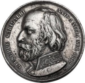 obverse: Giuseppe Garibaldi (1807-1882). Medaglia 1860 per lo Sbarco a Marsala