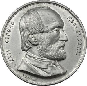 obverse: Giuseppe Mazzini (1805-1872). Medaglia 1882, per l inaugurazione del Monumento a Giuseppe Mazzini a Genova