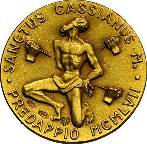 reverse: Benito Mussolini (1883-1945), Duce d Italia. Medaglia commemorativa 1957