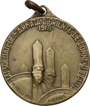 reverse: Medaglia 1918 ai soldati dell armata d Oriente