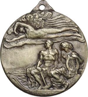 obverse: Crociera Italiana nell America Latina. Medaglia celebrativa 1924 con appicagnolo
