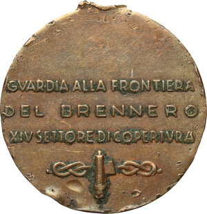 reverse: Medaglia per la guardia di frontiera al Brennero