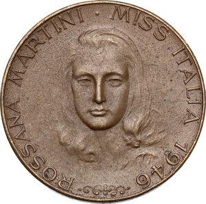 obverse: Rossana Martini, miss Italia 1946. Gettone da L. 10 per profumi e cosmetici, 1946