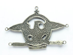 reverse: Distintivo massonico con aquila su fascio entro corona sormontata da stella. Libertà - Fratellanza - Uguaglianza