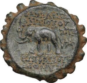 reverse: Syria, Seleucid Kings. Antiochos VI Dionysos (144-142 BC).AE serrate 22mm. Antioch mint