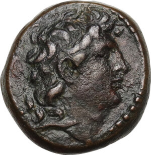 obverse: Syria, Seleucid Kings. Tryphon (c.142 - 138 BC).AE 17mm. Uncertain mint in Northern Syria