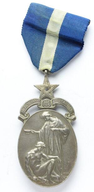obverse: Massoneria inglese.Medaglia con nastrino assegnata a J. W. Lown. N° 2134