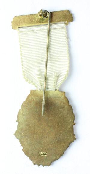 reverse: Massoneria inglese. Royal Masonic Institution for Girls. Medaglia con nastrino e fascetta STEWARD per il 160th Anniversary Festival 1948