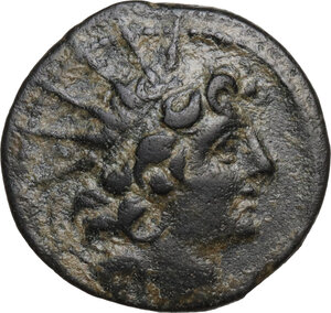 obverse: Syria, Seleucid Kings. Cleopatra Thea and Antiochos VIII Epiphanes. 125-121 B.C.AE 18.5 mm. Antioch on the Orontes mint