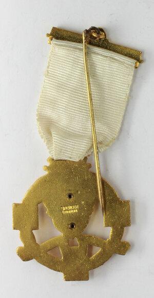 reverse: Massoneria inglese. Royal Masonic Institution for Girls (Cumberland and Westmorland).Medaglia con nastrino e fascetta STEWARD 1949