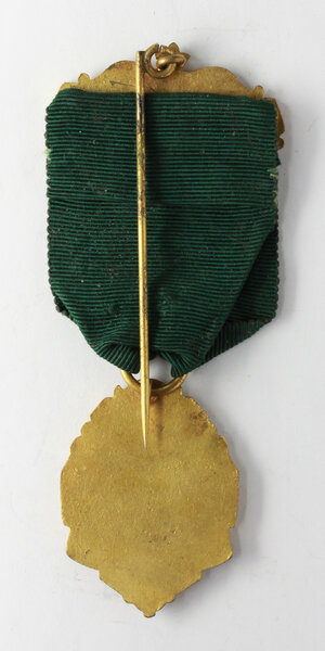 reverse: Massoneria inglese. Medaglia con nastrino e fascetta Liverpool & dist. Delegate to Prov. Grand Lodge