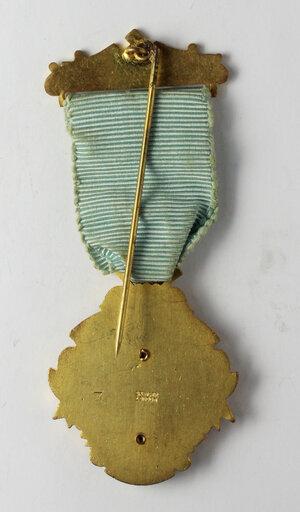 reverse: Massoneria inglese. Royal Masonic Institution for Boys (Province of Essex). Medaglia 1951 con nastrino decorato e fascetta STEWARD
