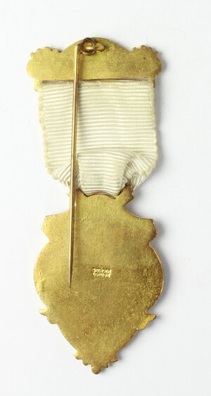 reverse: Massoneria inglese. Royal Masonic Institution for Girls. Medaglia con nastrino e fascetta STEWARD 1951