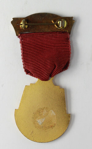 reverse: Massoneria inglese. Royal Masonic Benevolent Institution (Province of Worcestershire).Medaglia con nastrino e fascetta STEWARD 1956