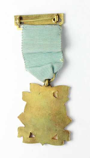 reverse: Massoneria inglese. Royal Masonic Institution for Boys (Northamptonshire & Huntingdonshire). Medaglia 1958 con nastrino e fascetta STEWARD