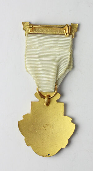reverse: Massoneria inglese. Royal Masonic Institution for Girls. Medaglia 1959 con nastrino e fascetta STEWARD
