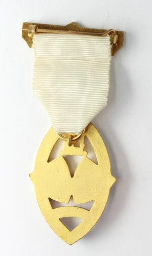 reverse: Massoneria inglese. Royal Masonic Institution for Girls. Medaglia 1963 con nastrino decorato e fascetta STEWARD
