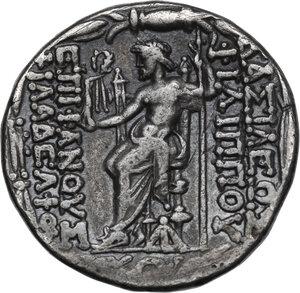 reverse: Syria, Seleucid Kings. Philip I Epiphanes Philadelphos (94-75 BC). AR Tetradrachm, Antioch mint