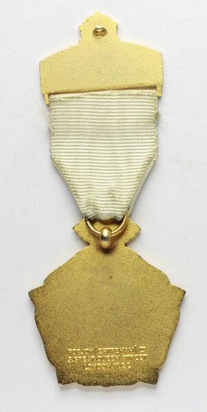 reverse: Massoneria inglese. Royal Masonic Institution for Girls. Medaglia 1972 con nastrino e fascetta STEWARD