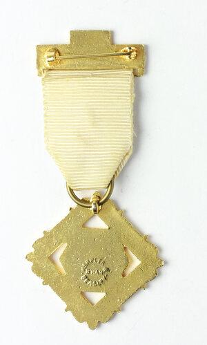 reverse: Massoneria inglese. Royal Masonic Institution for Girls. Medaglia con nastrino decorato con fascetta STEWARD 1978
