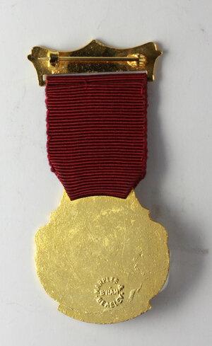 reverse: Massoneria inglese. Royal Masonic Benevolent Institution.Medaglia 1979 con nastrino e fascetta STEWARD