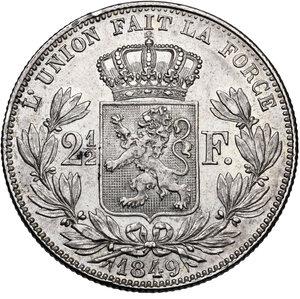 reverse: Belgium. Leopold I (1831-1865).2 1/2 Francs 1849