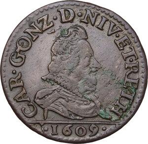 obverse: France. Carlo I Gonzaga Nevers (1601-1637).2 Liard 1609