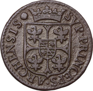 reverse: France. Carlo I Gonzaga Nevers (1601-1637).2 Liard 1609